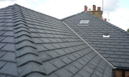 Derbyshire new slate tile roof